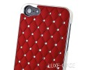 Luxe-Case Κόκκινη με Στρασάκια για iPhone4